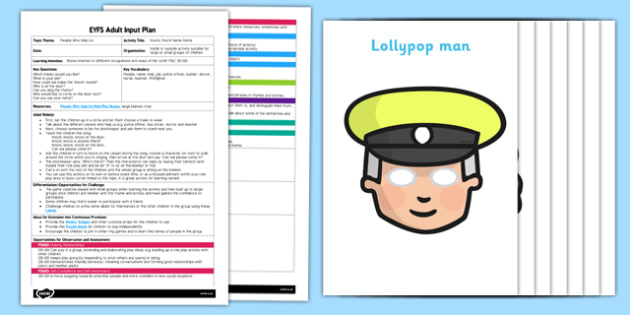 EYFS Knock, Knock Name Game Adult Input Plan and Resource Pack - EYFS, Early Years planning, adult led, role play, People Who Help Us.