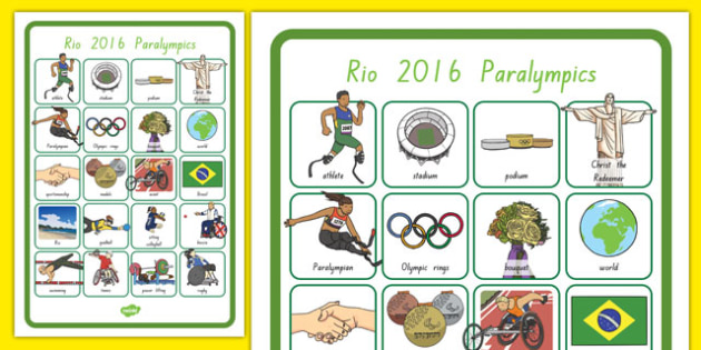 Paralympics Word Grid - nz, new zealand, Paralympics, rio, 2016, sports, events, pe, words, vocabulary, medals, events, athletes, disability