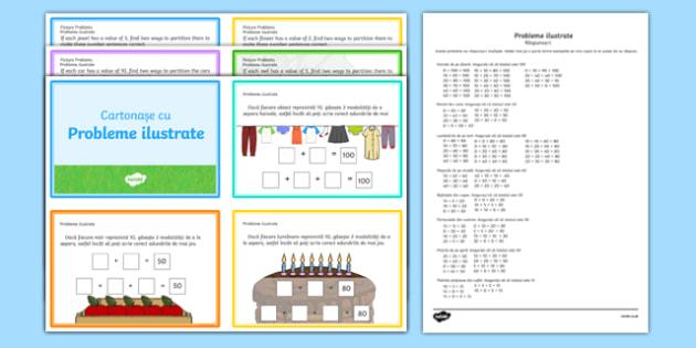 Cartonașe cu probleme ilustrate
