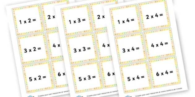 Multiplication Questions Cards - Times Tables Primary Resources, multiply, times, number of, games, Times, Table, Tabe