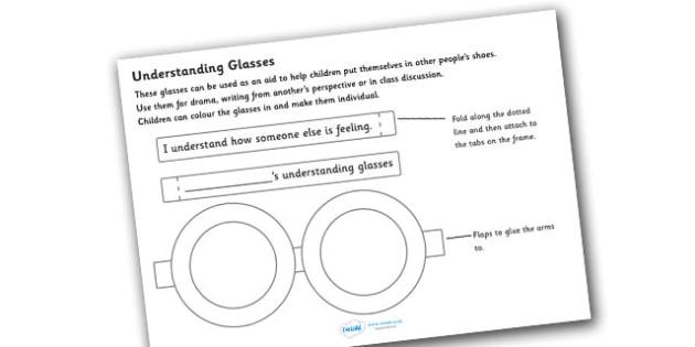 Understanding Glasses - understanding glasses, glasses, empathy, diversity, discrimination, acceptance, differences, eyes, eyewear, craft, understanding