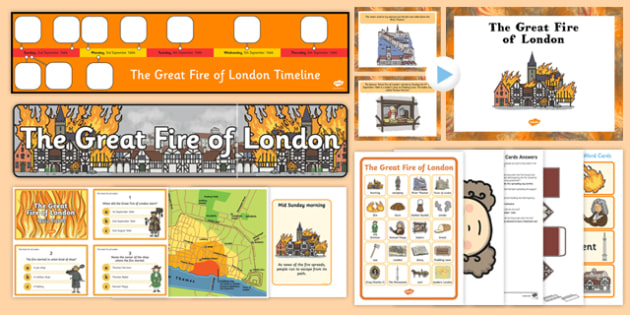 Top 10 Great Fire of London Activity Pack