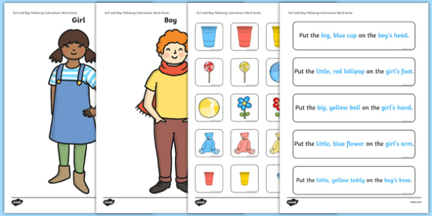 Girl and Boy Following Instructions – 5 ICWs Game