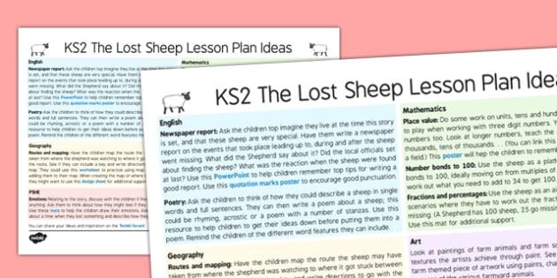 The Lost Sheep Lesson Plan Ideas KS2 - the lost sheep, lesson plan, lesson plan idea, lesson ideas, lesson planning, teaching plan, KS2, key stage 2, ideas