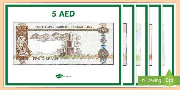 UAE Money Display Posters - Money, UAE, dirhams, AED, pay, Arabic, posters,display, firs.