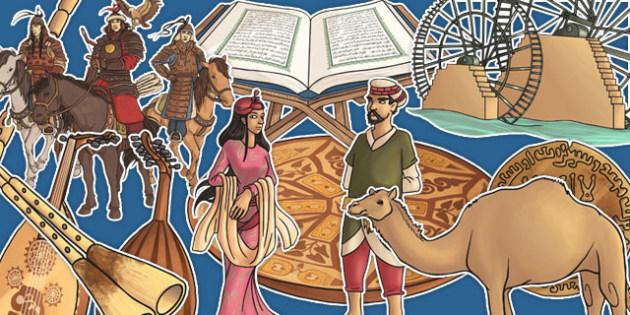 Early Islamic Civilisation Large Display Cut Out Pack - early islamic civilisation, display, cut out