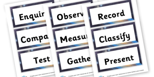 Working scientifically - Science & Investigation Display Primary Resources -  Primary Reso