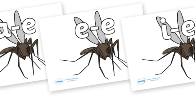 Modifying E Letters on Mosquitos - Modifying E, letters, modify, Phase 5, Phase five, alternative spellings for phonemes, DfES letters and Sounds