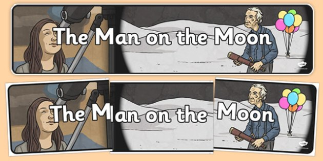 The Man on the Moon Display Banner - the man on the moon, display banner, display, banner