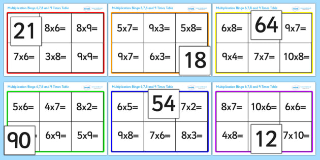 Number Names Worksheets 9 time tables games Free Printable – Multiplication Worksheets 9 Times Tables