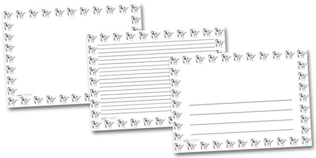 Calf Landscape Page Borders- Landscape Page Borders - Page border, border, writing template, writing aid, writing frame, a4 border, template, templates, landscape