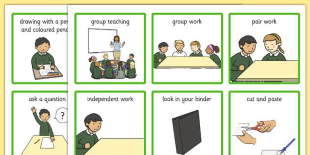Classroom Visual Aid Cards - classroom, visual aid, cards, visual, aid