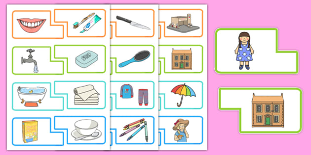 Everyday Activities Matching Game - everyday, activities, matching game, match, game