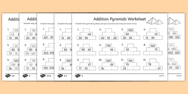 KS2 Addition Primary Resources, Addition - Page 2