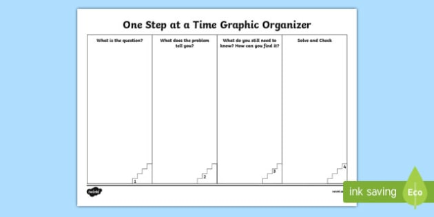 One Step at a Time Math Graphic Organizer