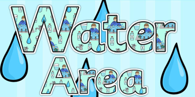 Water Area Display Lettering - water area, water, letters, areas