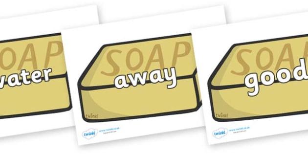 Next 200 Common Words on Soap - Next 200 Common Words on  - DfES Letters and Sounds, Letters and Sounds, Letters and sounds words, Common words, 200 common words