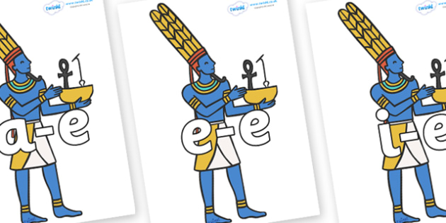 Modifying E Letters on Egyptians - Modifying E, letters, modify, Phase 5, Phase five, alternative spellings for phonemes, DfES letters and Sounds
