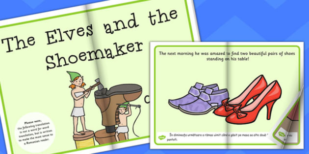 The Elves and Shoemaker eBook EAL Romanian Translation - Romanian