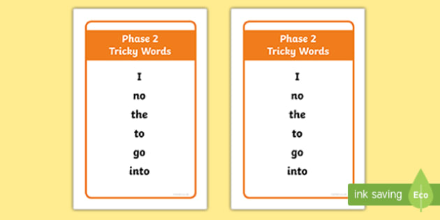 Ikea Tolsby Phase 2 Tricky Words Prompt Frame
