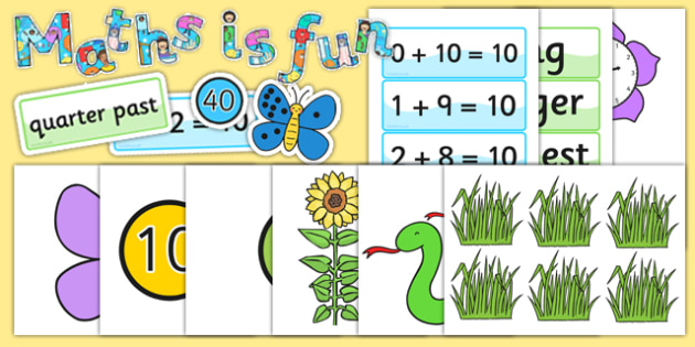 Ready Made Maths is Fun Display Pack - ready made, maths, display