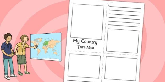 My Country Mini Book Romanian Translation - romanian, country