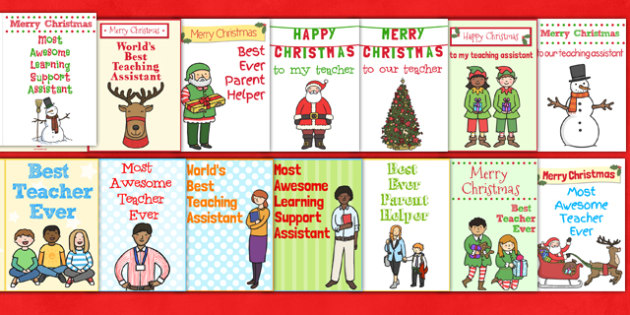 School Staff Christmas Card Pack - christmas card, pack, school
