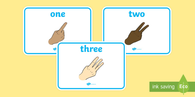 British Sign Language Number A4 Display Posters - british sign language, sign language, bsl, number, a4, display posters, display, posters
