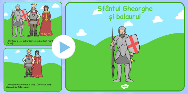 Legenda Sf. Gheorghe, Prezentare informativa PowerPoint - religie