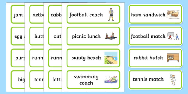 Three Syllable Final Ch Sound Word Cards - three, syllable, ch
