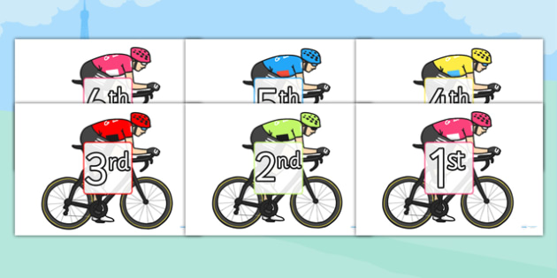 Tour de France Cyclists Ordinal Number Sorting - le tour, order