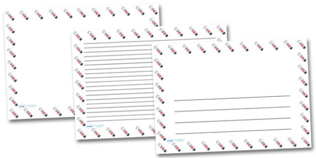 Glue Stick Landscape Page Borders- Landscape Page Borders - Page border, border, writing template, writing aid, writing frame, a4 border, template, templates, landscape