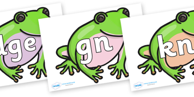 Silent Letters on Green Tree Frog - Silent Letters, silent letter, letter blend, consonant, consonants, digraph, trigraph, A-Z letters, literacy, alphabet, letters, alternative sounds