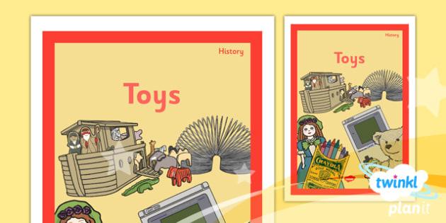 PlanIt - History KS1 - Toys Unit Book Cover - planit, book cover, unit, history, ks1, toys