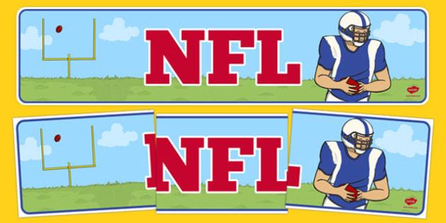 NFL Display Banner - usa, nfl, display banner, national football league, american football