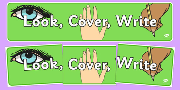 Look, Cover, Write Display Banner - look, cover, write, display banner, display, banner