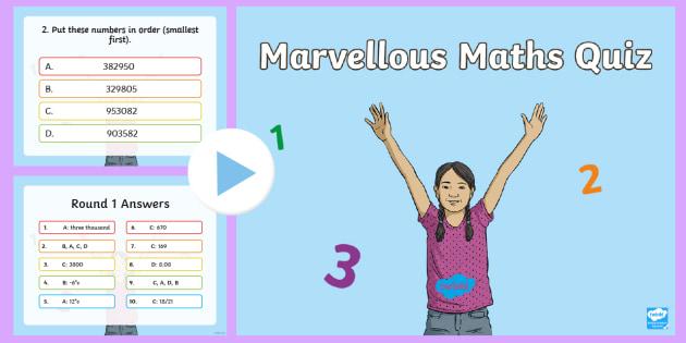 UKS2 Maths Quiz PowerPoint - numeracy quiz, numeracym math quiz