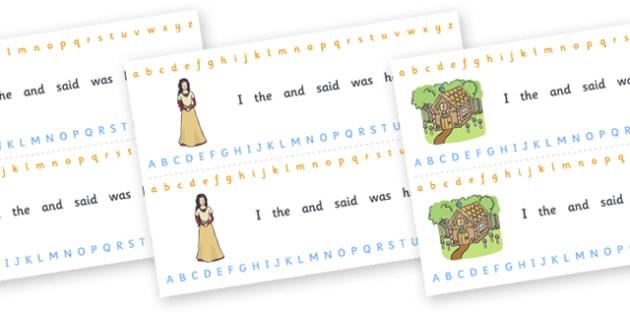 Alphabet Strips (Fantasy) - education, home school, child development, children activities, free, kids, worksheets, how to write, literacy