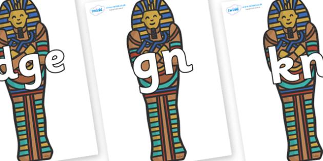 Silent Letters on Sarcophagus - Silent Letters, silent letter, letter blend, consonant, consonants, digraph, trigraph, A-Z letters, literacy, alphabet, letters, alternative sounds