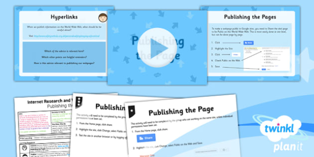 PlanIt - Computing Year 5 - Internet Research and Webpage Design Lesson 6: Publishing the Page Lesson Pack - planit, computing