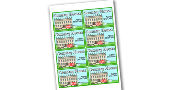 Country House Role Play Tickets - country house, role play, country house role play, role play tickets, country house tickets, tickets