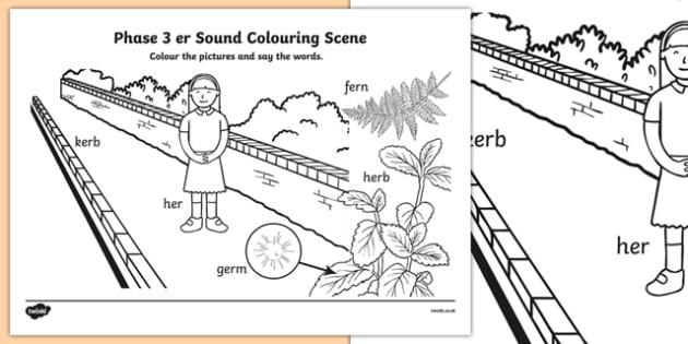 Phase 3 er Sound Colouring Scene