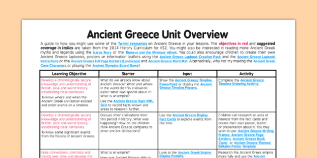 Ancient Greece Planning Overview - ancient greece, planning, overview