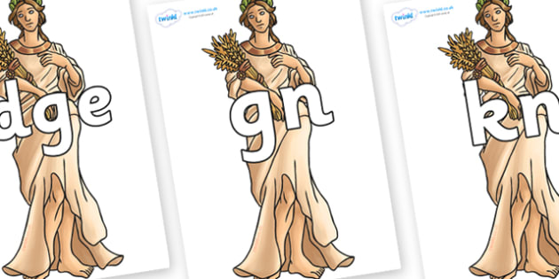 Silent Letters on Demeter - Silent Letters, silent letter, letter blend, consonant, consonants, digraph, trigraph, A-Z letters, literacy, alphabet, letters, alternative sounds