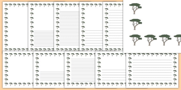 Cypress Tree Themed Page Borders - cypress tree, themed, page borders, page, borders, cypress, tree