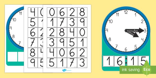 Actividad de relojes digitales y analógicos