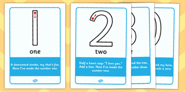 Number Formation Rhyme Display Posters - education, home, free