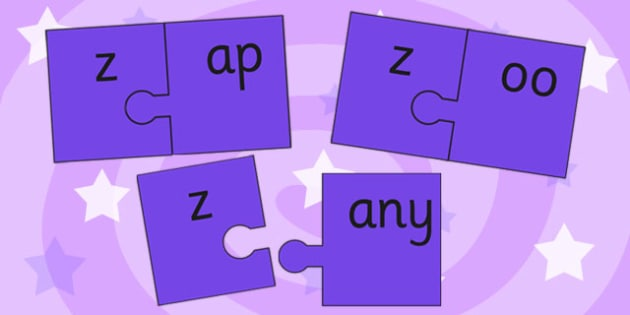 z and Vowel Production Jigsaw Cut Outs - z, vowel, jigsaw, sounds