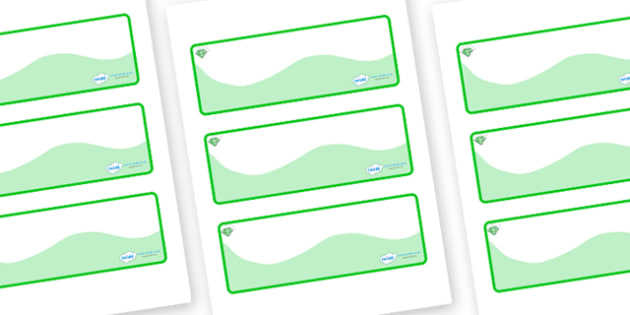 Emerald Themed Editable Drawer-Peg-Name Labels (Colourful) - Themed Classroom Label Templates, Resource Labels, Name Labels, Editable Labels, Drawer Labels, Coat Peg Labels, Peg Label, KS1 Labels, Foundation Labels, Foundation Stage Labels, Teaching