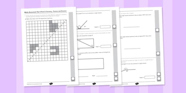 Year 5 Maths Assessment: Geometry - Properties of Shapes Term 3 - Maths, Assessment, Geometry, Shape
